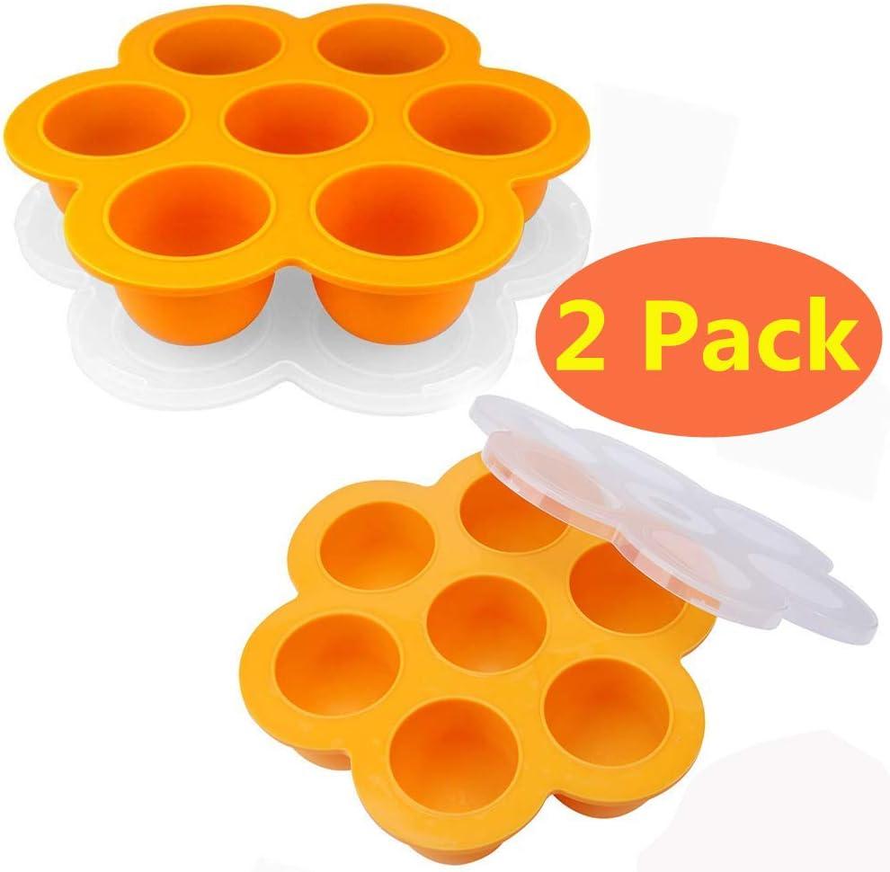 KACOOL - Moldes de silicona para huevos de cocina, contenedores de ...