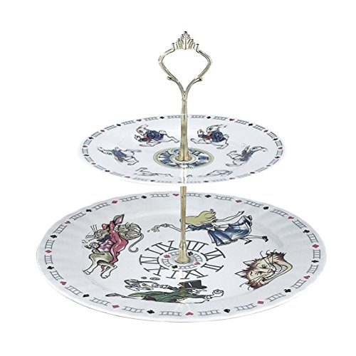 Paul Cardew Teapot - Alice In Wonderland Cake Stand 2 Tier Retired Pattern