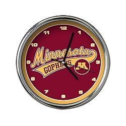 NCAA Minnesota Chrome Clock
