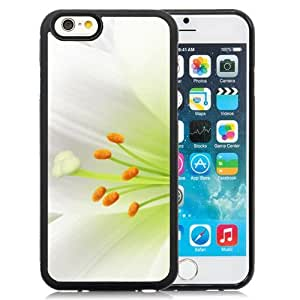New Beautiful Custom Designed Cover Case For iPhone 6 4.7 Inch TPU With Pure White Lily Flower Macro Phone Case WANGJIANG LIMING