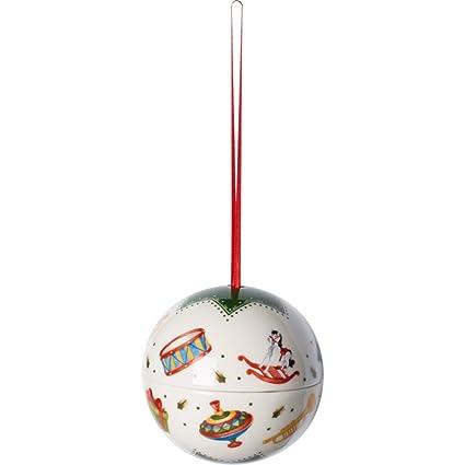 Villeroy & Boch My Christmas Tree Bola de Navidad Juguetes, Porcelana, Verde/Blanco