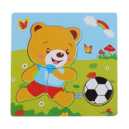 Bestpriceam (Tm) Wooden Blocks Kid Children Educational Toy Puzzle Bear