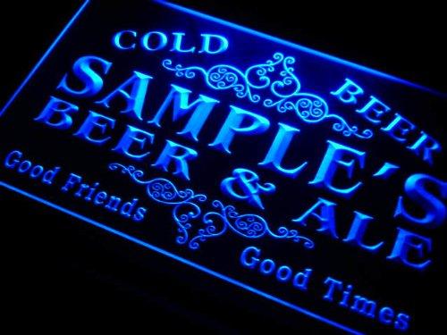 qs1107-b Woods Beer & Ale Vintage Design Bar Decor Neon Light Sign