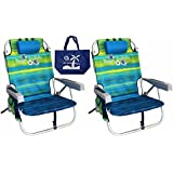 2 Tommy Bahama Backpack Beach Chairs/ Green + 1 Medium Tote Bag
