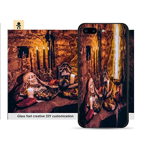 (iPhone 7p / 8p Ultra-Thin Phone case Spooky Halloween Decoration with Food at Scary Party Resistance to Falling, Non-Slip, Soft, Convenient Protective)