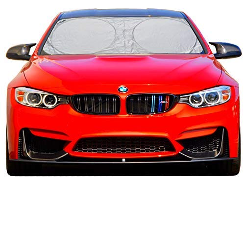 Windshield Sun Shade - 210T-Fabric for Maximum UV and Sun Protection- -Sunshades for car Windshield Will Keep Your car Cooler- Sunshade
