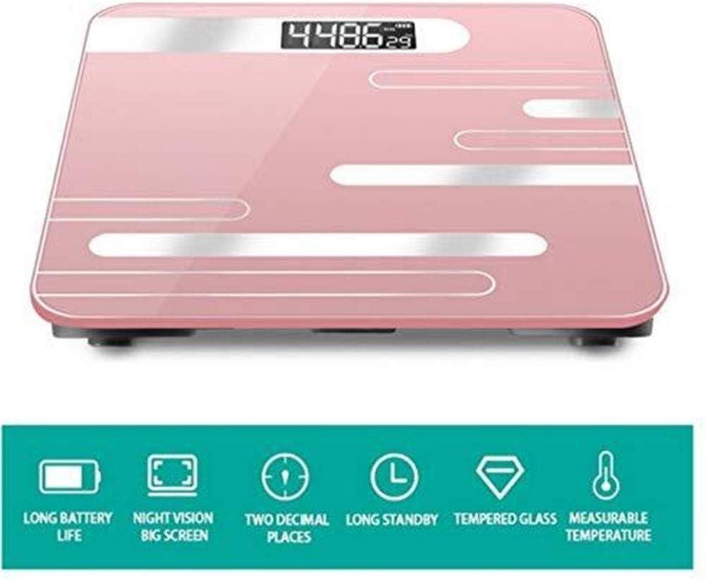 N/ A Balanzas electrónicas Digitales, balanza electrónica Inteligente para baño con Bluetooth LED
