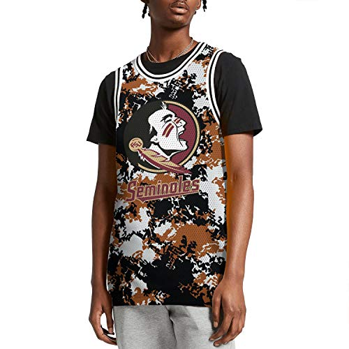 ilzeu Mens Camouflage Graphic Printed Tank Tops Elastic Materials Basketball Vest Sports Jersey