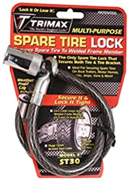 Trimax ST30 Trimaflex Spare Tire Cable Lock (Round Key) 36\
