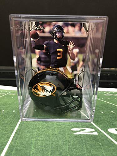 (Missouri Tigers NCAA Helmet Shadowbox w/Drew Lock card)