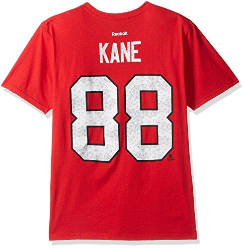 Chicago Blackhawks Long Sleeve Shirt - NHL Chicago Blackhawks Adult Men Fractal Camo Name S/Tee,Large,Red