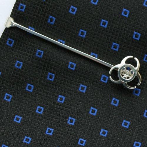 ZAUNICK Biohazard Tie Clip Sterling Silver by ZAUNICK