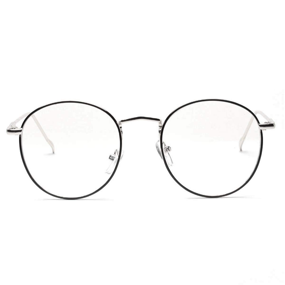 2161eb43a18 Details about AISSWZBER Blue Light Block Women Metal Circle Non-prescription  Eyeglasses