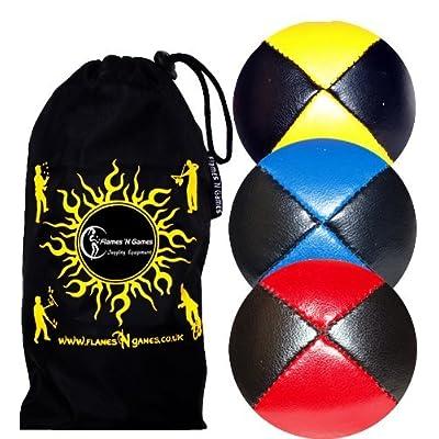 3x Balles de Jonglage En Cuir Super Durable (Leather) + Sac de transport
