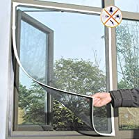 Divyanshi Mosquito Net PVC Coated Fiberglass Window Mosquito Net with Hook & Loop Tape for Installation