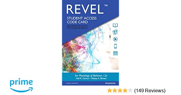 Revel For Physiology Of Behavior Access Card 12th