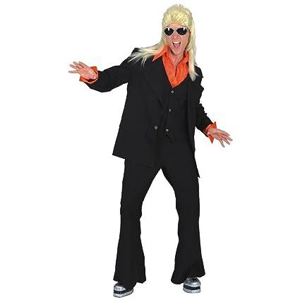 70er años Avanti Partyman negro traje de los hombres de los ...