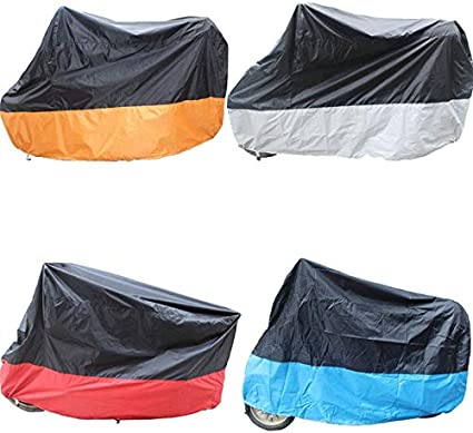Moped Cover Outdoor Bike Cover Motorcycle Cover With Lock Wheel,Diligencer 190T Waterproof UV Rain Dust Belt (Black Yellow)