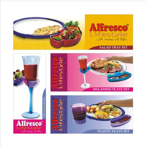 Wine 'N Dine Party Plates Attachement by Alfresco Lifestyle