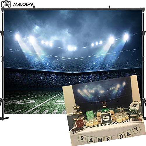Maijoeyy 7x5ft Sports Photography Backdrops Stadium Backdrop for Photography Children Party Decoration Photography Props Backdrop for Studio Photo Background Backdrop for Selfie Station ()
