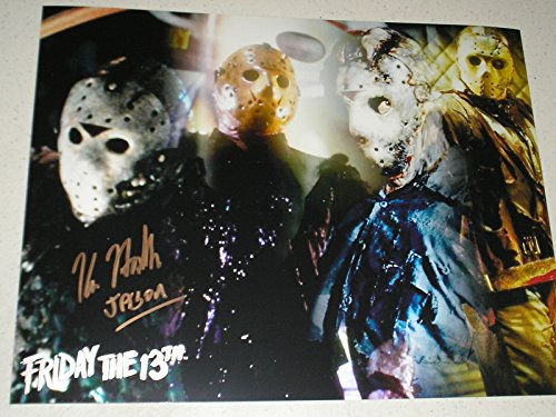 KANE HODDER Signed Jason Voorhees Custom Metallic 10x13 Photo Friday the 13th