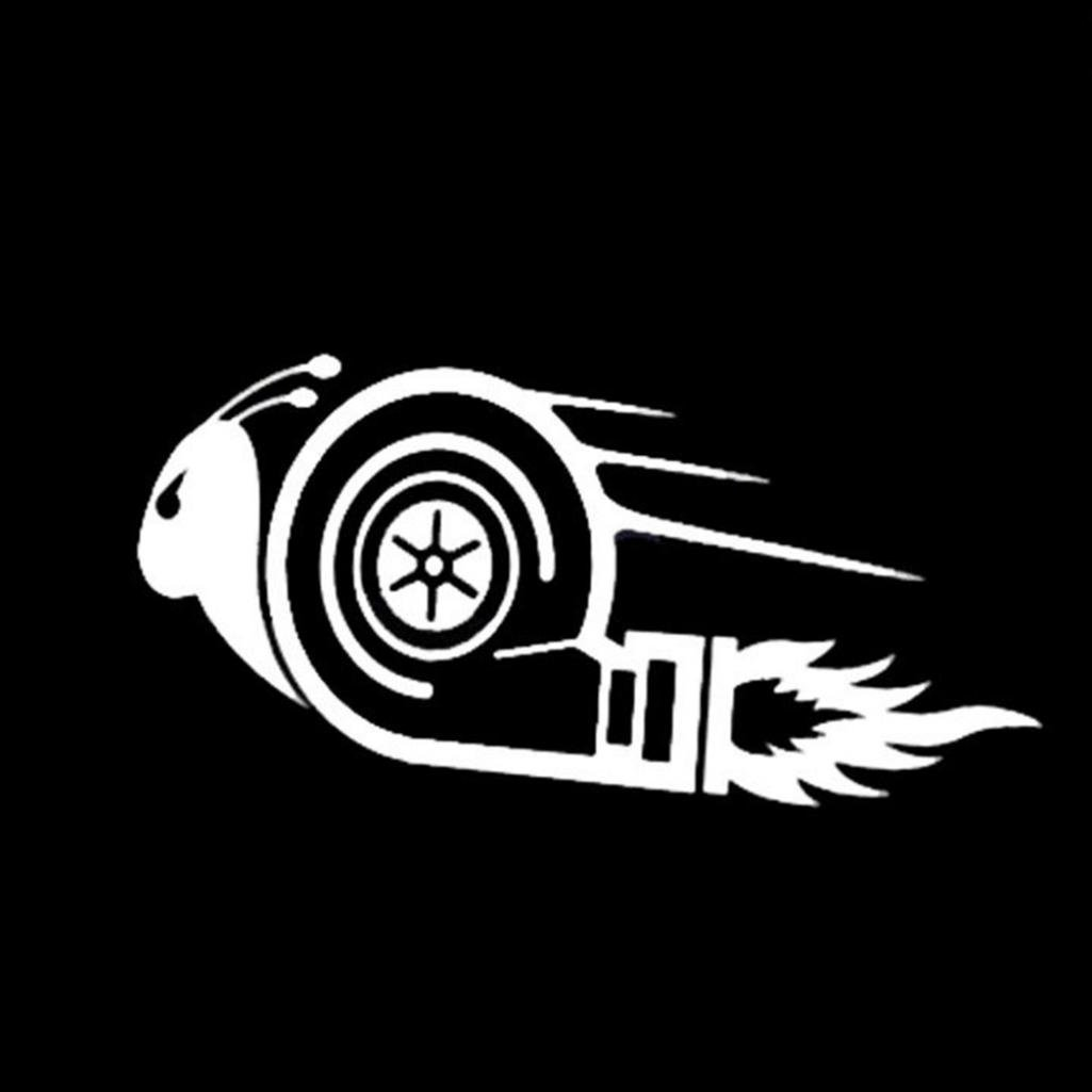 856store Big Promotion Stylish Turbo Snail Racing Car Motorcycle Decal Reflective Sticker Decoration