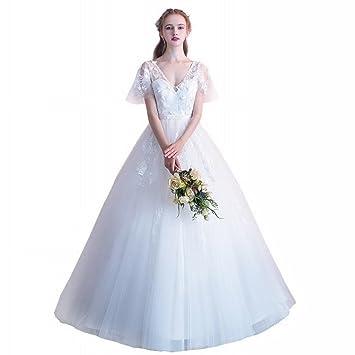 AN Vestido de boda de la novia de la boda pompón falda de moda simple vestido