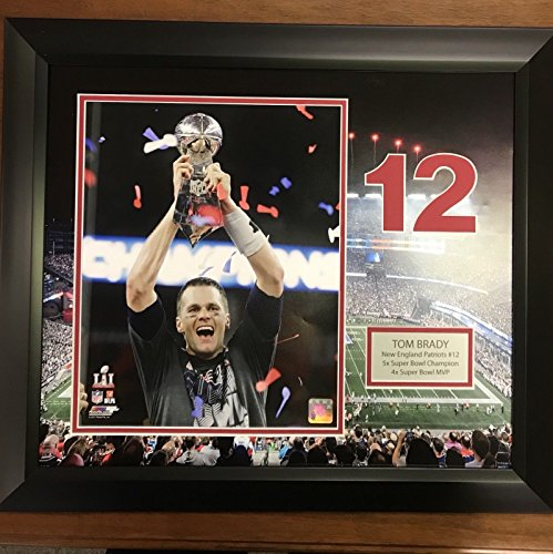 Gillette Stadium Framed - Framed Tom Brady New England Patriots Gillette Stadium 11x14 Super Bowl Football Photo Professionally Matted