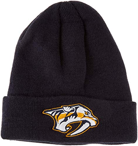 - OTS NHL Nashville Predators Youth Raised Cuff Knit Cap, Navy, Youth