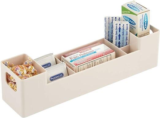 mDesign Caja para medicamentos con asas para el baño – Cajas ...