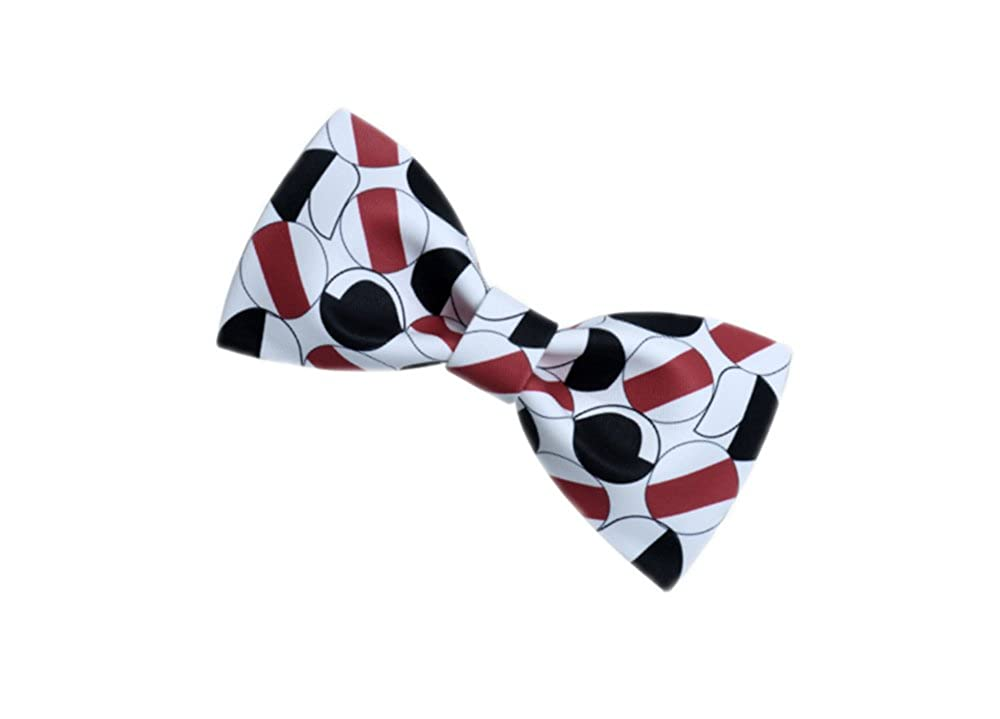 Wsysnl Color Printing Hand Made Bow Tie