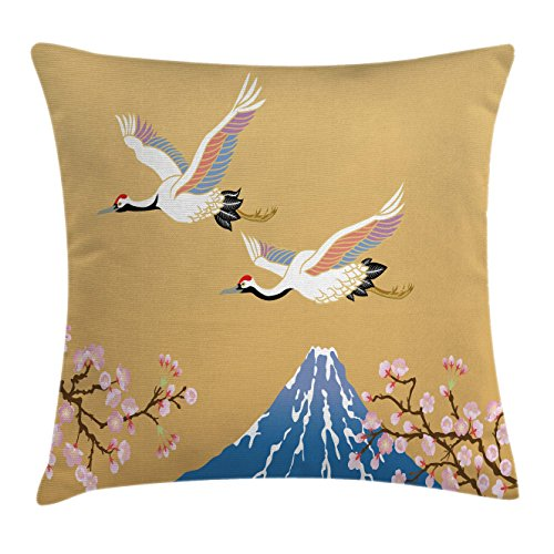 Lunarable Asian Throw Pillow Cushion Cover, Japanese