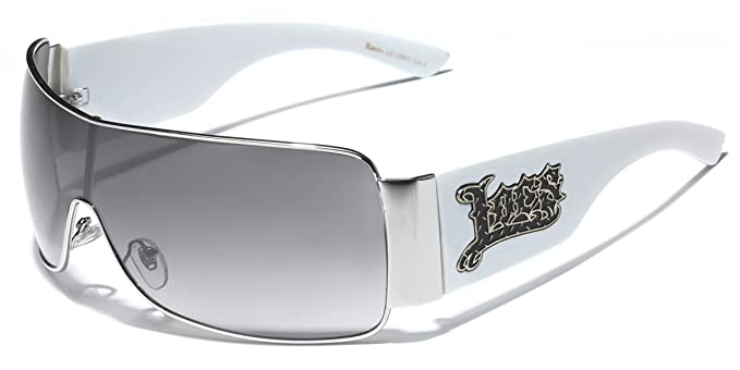 ac6096ba5f Oversized Locs Metal Rim Original Gangsta Shades Men s Hardcore Sunglasses  - White