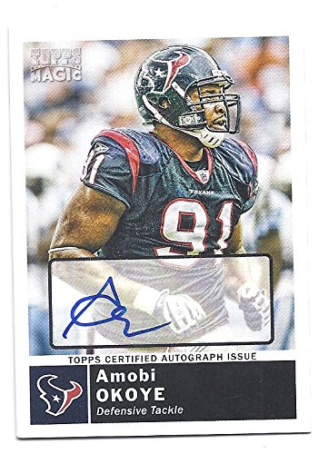 AMOBI OKOYE 2010 Topps Magic  168 AUTOGRAPH Parallel CARD Houston Texans  Football c7e761e2c