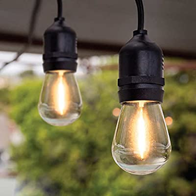 Feit 48' LED 24W Filament String Light Set Indoor/Outdoor Patio Deck Backyard Party Home Decor