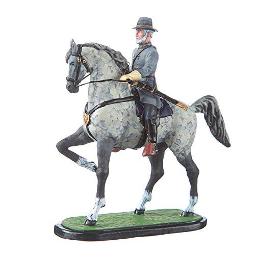 danila-souvenirs Tin Toy Soldier US Civil war Confederates General Robert Lee on his Horse Hand Painted Metal Sculpture Miniature Figurine 54mm #CW13