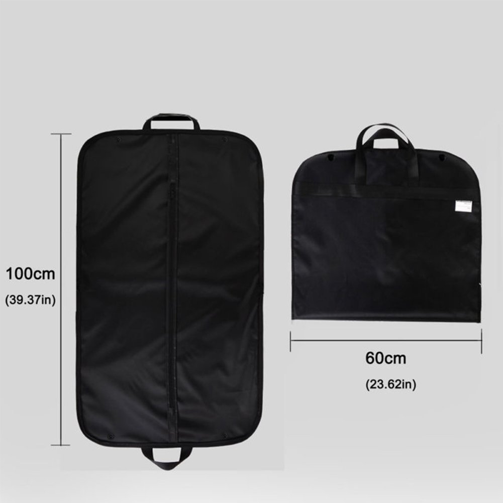 Breathable Travel Garment Bag,Portable Waterproof Suit Covers Carrier Bag Hanging Cloth Cover with Handle 60x100cm(60x100cm,Black) by INLAR (Image #2)