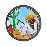 CafePress - Mexican Siesta - Unique Decorative 10'' Wall Clock