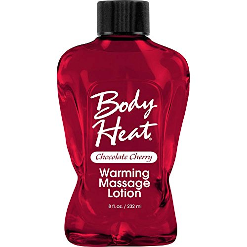 Pipe Dream Body Heat Flavored Edible Warming Oil Massage Lotion Lubricant [Chocolate Cherry] : Size 8 Oz / 232ml