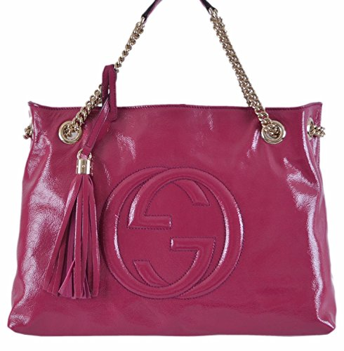Gucci Women's Pink Patent Leather Chain  - Gucci Pink Shopping Results