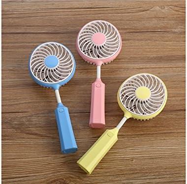 Blue Andosange Mini Fan Mini USB Badminton Fan Child Student Portable Handheld Fan Foldable Fan