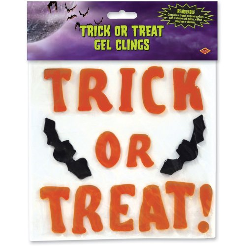 Beistle Trick or Treat Gel Clings, 7-1/2-Inch by