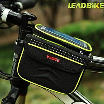 Bicicleta alforja bolsa 2-lados alforja delantera bolsa de ...