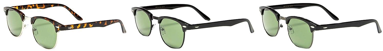 Classic Teen 60s Half Rimmed Clubmaster Lunettes De Soleil Sunglasses