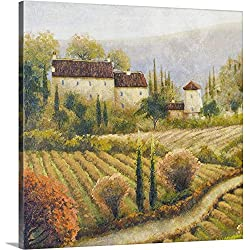 "Michael Marcon Premium Thick-Wrap Canvas Wall Art Print entitled Tuscany Vineyard I 30""x30"""