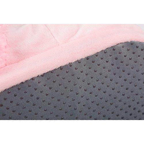 CuteOn Soft Plush Unicorn Slippers, Indoor Slippers Footwear for Men Women Pink 1