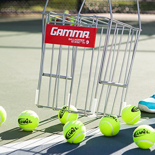 Gamma Sports Tennis Ballhoppers - Durable, Convenient, Heavy Duty Construction, for Tennis Ball Pickup, Carrying and Storage, (Various Designs/Capacities to Hold 50, 55, 75, 90, 110, 140 Balls)