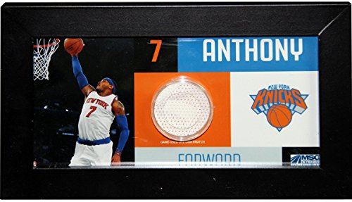 Carmelo Anthony Player Collage 4x8 Framed Photo w/Game Used Uniform