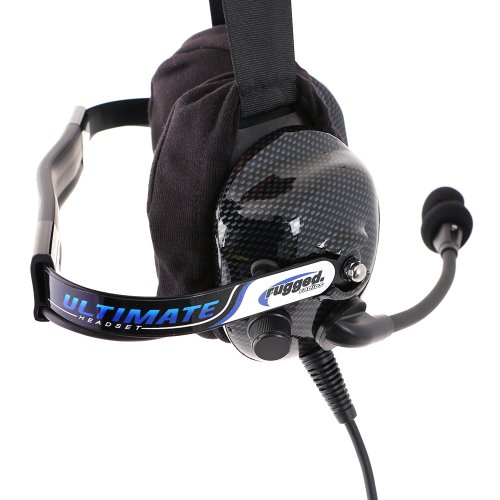 Rugged Radios H42-ULT Carbon Fiber Behind The Head Ultimate Headset with Gel Ear Seals, Cloth Ear Covers and Dynamic Noise Cancelling Microphone by Rugged Radios (Image #3)