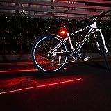 Xiemin Bike Tail Light Laser, LED Bright Waterproof Accessories Bicycle Rear Light AAA